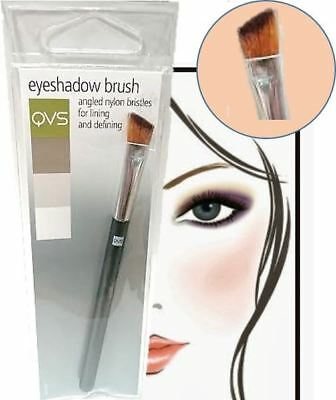 QVS Angled Eyeshadow Brush Slanted Bristles Eyebrow Beauty Lip Make-Up Brush
