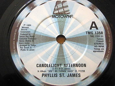 "Phyllis St. James - Candlelight Afternoon   7"" Vinyl"