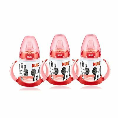 NUK Mickey & Minnie Red First Choice 150ml Learner Bottle - 3 Pack