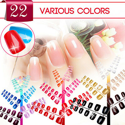 Capsules French Faux Ongles Extension Demi Gel UV Acrylique Nail Art Tips