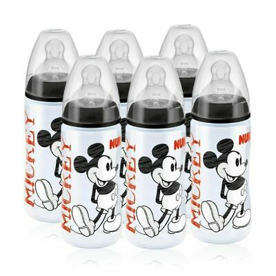 NUK Mickey Black Top First Choice+ 300ml Bottle (6-18 months) - 6 Pack