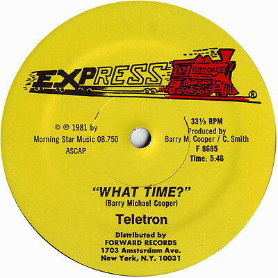 """Teletron """" What Time """" Sealed U.s.12 Electro Dance House"""