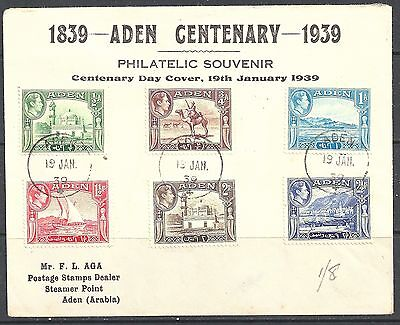 ADEN 1939 (19 Jan) ½a to 2½a set of Ref95395