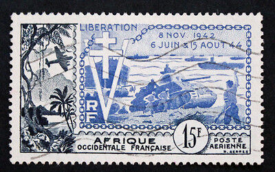 Timbre AOF Stamp - Yvert et Tellier Aériens n°17 Obl (Col1)