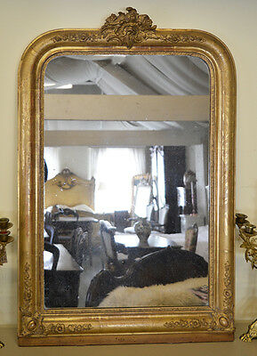 19th Century Antique French Gilt Louis Philippe mirror
