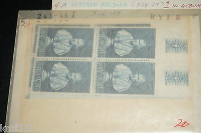 M.N.H. VATICAN STAMPS SC#243-46 STATUE OF POPE CLEMENT Xlll Block of 4