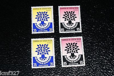 Costa Rica Selections: Scott #C290-C291 MNH 2 SETS WRY World Refugee Year $$
