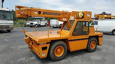 1991 Broderson IC80-ID Carry Deck Crane, Cummins DSL, 9 Ton Cap, Only 1,500 hrs!