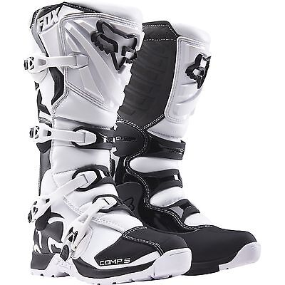 New Fox Racing Mens Adult 2016 White Comp 5 Motocross Mx Atv Boots Riding