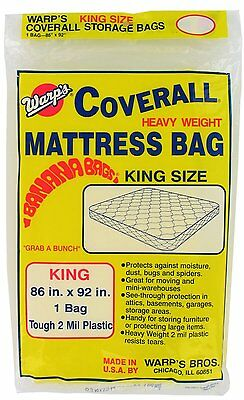 Warp's Brothers CB-86 Banana Bags Mattress Bag, King Size, 86-Inch by 92-Inch