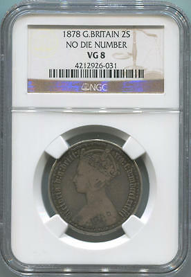 1878 Great Britain 1 Florin, 2 Shillings. No Die Number. NGC VG8