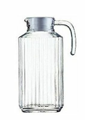 Luminarc Quadro 1.7-Liter (57 1/4-Ounce) Glass Pitcher with Lid