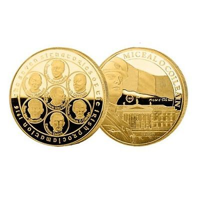The Dublin Mint Office 28mm Freedom Gold Commemorative Coin Medal