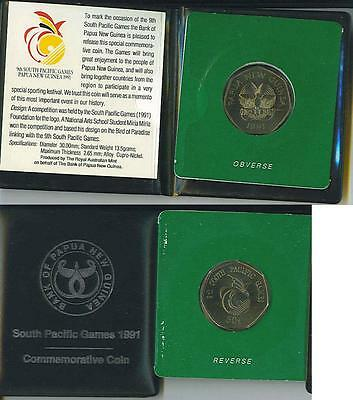 Papua New Guinea: 1991 Official Uncirculated 50 Toea South Pacific Games Commem.