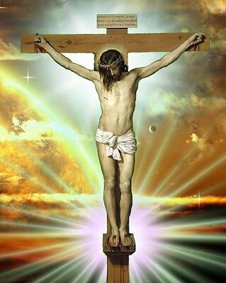 JESUS ON CROSS / Religious 8 x 10 / 8x10 GLOSSY Photo ...