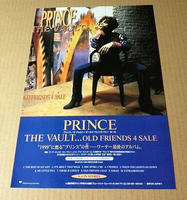1999 Prince The Vault JAPAN album promo ad / mini poster advert / clipping p010r