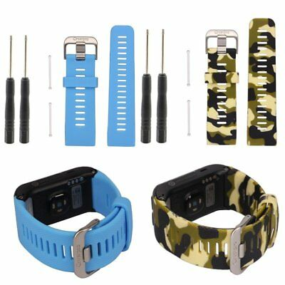 Silicone Wrist Strap Replacement Watch Band For Garmin Vivoactive Heart Rate HR