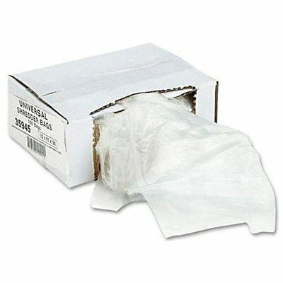 Universal Office Products 35945 High-density Shredder Bags, 15w X 11d X 30h, 100