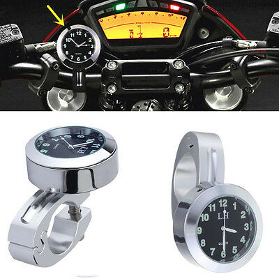 "1pcs 7/8"" to 1"" Motorcycle Accessory Handlebar Mount Watch Dial Clock For Yamaha"