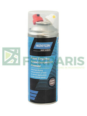 Fondo spray grigio scuro Norton carrozzeria verniciatura anti corrosione 400 ml