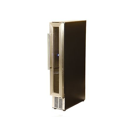Hostess HW07MA 15cm Wide 7 Bottle Wine Cooler - Stainless Steel [Energy Class B]