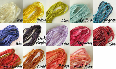 2 Metre Of Hand Dyed Soft Ribbon 5 mm wide