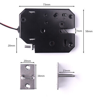 IRON 2A DC12V Secure Electric Electronic Lock Door Release Rim Courier  Cabinet