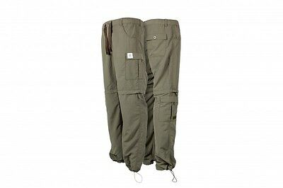 Nash Tackle NEW Carp Fishing Green Lite Zip Off Combat Trousers Long *All Sizes*