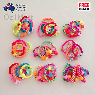 10 Pcs Colorful Kids Girls Baby Hair Holders Rubber Bands Hair Elastics Gum