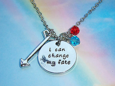 Brave Merida Inspired I Can Change My Fate Crystal Charms Silver Necklace