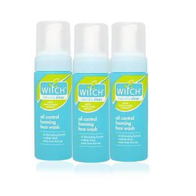 Witch Oil Control Foaming Face Wash 150ml - 3 Pack