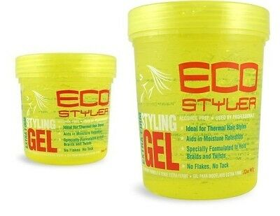 ECO Styler Haie Gel Extra Firm Styling Hair Gel YELLOW Professional No Flakes