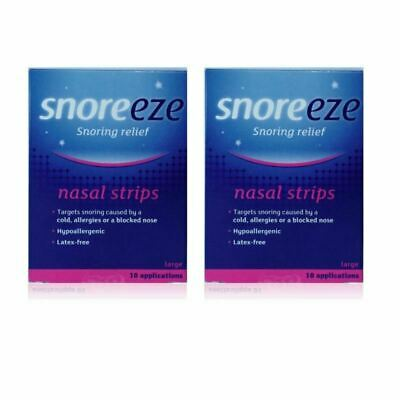 Snoreeze Snoring Relief Nasal Strips Large 10 Strips - 2 Pack