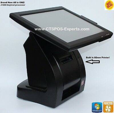 NEW! Complete POS w/ BUILT IN PRINTER! Restaurant Bar Salon System Point of Sale