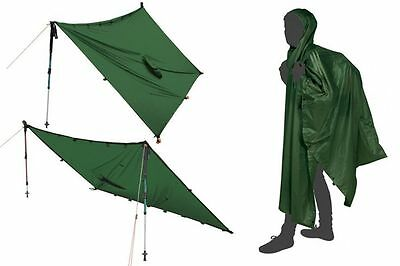 Nigor Poncho Tarp SUL Lightweight Compact Motorcycle Biker Camping Shelter