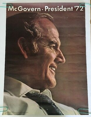 McGovern For President '72 Poster Political Campaign Pin-up Political 1972