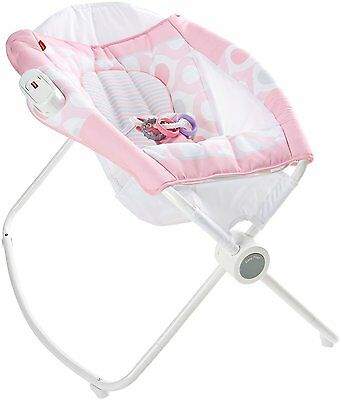 Fisher Price Newborn Rock'n Play Vibrating Sleeper, Pink Ellipse | CMP96