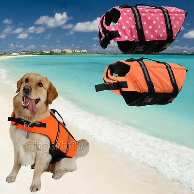 Pet Dog Swimming Life Jacket Buoyancy Aid Float Vest Adjustable Water Aid S/M/L