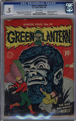 Green Lantern #10 CGC .5 Brittle Pages 1st Vandal Savage Legends of Tomorrow