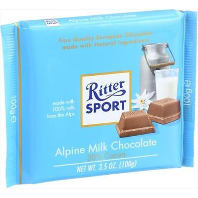 Ritter 3.5 Ounce Sport Chocolate Bar Milk Chocolate 30 Percent Cocoa Alpine, ...