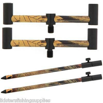 2 Ngt Camo Banksticks 30-50Cm + 2 Mini Buzz Bars 2 Rod 13Cm Carp Fishing Tackle