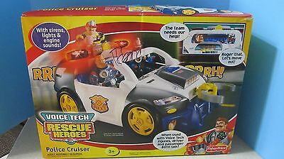 NEW Rescue Heroes Voice Tech Police Cruiser Fisher Price 78361 NIB NEW