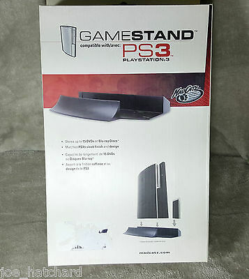 PlayStation 3 Game Stand By Mad Catz Also Stores 15 DVD-Blu-ray Disc PS3 Phat