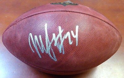 Marshawn Lynch Autographed Signed Nfl Leather Football Seattle Seahawks Ml Holo