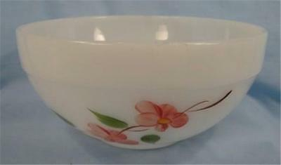 Vintage Peach Blossom Colonial Kitchen Mixing Bowl Fire King Anchor Hocking (O)