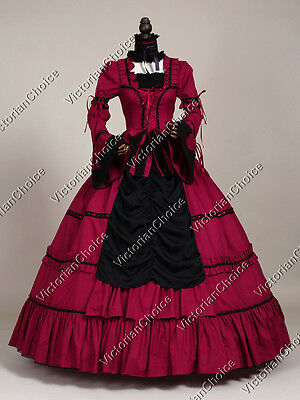 Victorian Gothic Period Prom Dress Ball Gown Theater Steampunk Punk Clothing 125