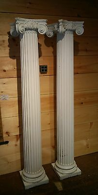 Pair Large Old or Antique Architectural Corinthian Columns