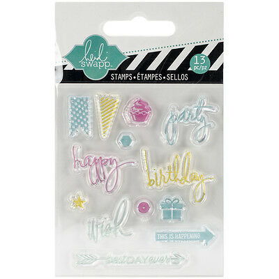 """""""Heidi Swapp Clear Mini Stamps 3""""""""X3.5""""""""-Party, Set Of 2"""""""
