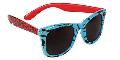 NEW Santa Cruz sreaming Sunglasses hand blue red Sunnies Sun Glasses frogskin ra