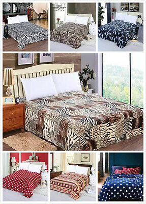 X Large Soft Queen/King Mink Blanket Flannel Fabric Plush Quilt 2.1 x 2.3 Meter